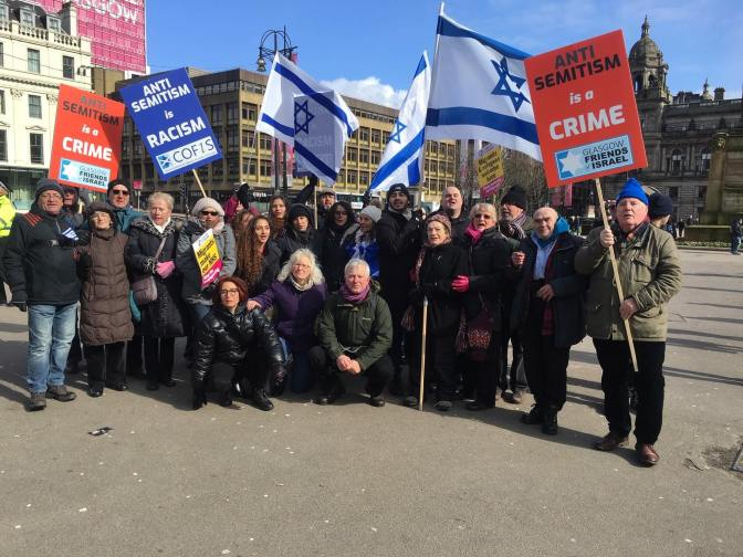 Islamists, Communists and Provos join forces to harass Jewish Group in Glasgow
